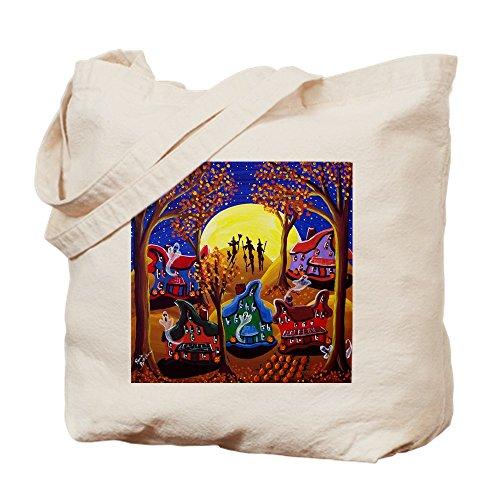 (CafePress Spooky Halloween Night Tote Bag, canvas, khaki, S)
