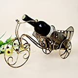 JIUJIA Iron float large wine rack creative wine decorations fashion retro multifunctional desktop storage, imitation patina, 42 * 16 * 20cm