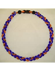 "Titanium Tornado Baseball Necklace Orange Royal 18"" by Titanium"