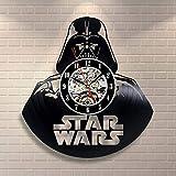 Star Wars wanduhr,Vinyl Record wanduhr,Wohnzimmer Uhr,Moderne Retro Wanduhr,Für Wohnzimmer Hotel Partei-G 30cm(12inch)