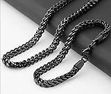 Herren Titan Stahl Edelstahl Dicke Halskette Armband Set Halskette 60Cm Armband 24Cm Breite 6Mm