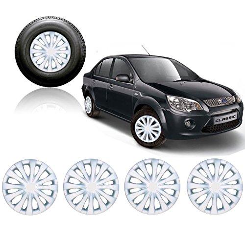 Premium Quality Car Full Wheel Cover Caps Silver 14inches - Ford Fiesta Classic