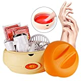 YAOBLUESEA Professionale Scaldacera Cera Salone di Bellezza Elettrica Hot Wax Warmer 150W Beauty Set Arancione