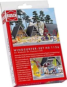 Busch-Jaeger - Edificio ferroviario de modelismo ferroviario Escala 1:87 (H0 BU Windsurfer-Set BUE1156)