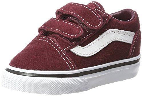 Skool V Suede Sneaker, Rot (Suede/Port Royale/Black), 24 EU (Kinder Vans Schuhe)