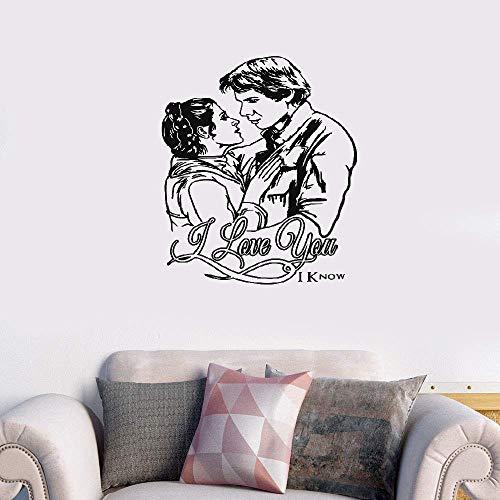 Wandaufkleber Schlafzimmer Star Wars Prinzessin Leia & Han Solo Love Nursery Kinderzimmer Kunst Dekor