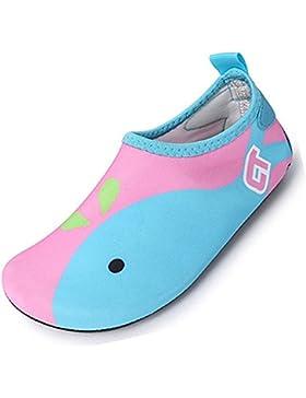SUADEX Niños Niña Zapatos de Agua descalzo Barefoot Respirable Zapatos de Playa Aire Libre Calcetines de natación...
