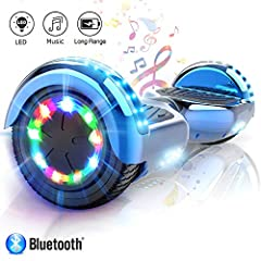 Idea Regalo - Hoverboard elettrico APP scooter a 6.5 pollici con Bluetooth & LED Auto Balance E-Skateboard
