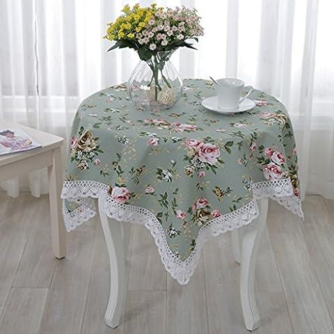 muebles de estilo rural, aparatos cubierta refrigerador mesa de paño de tela de toalla de noche universales mantel de encaje de algodón ( Tamaño : 140*140 )