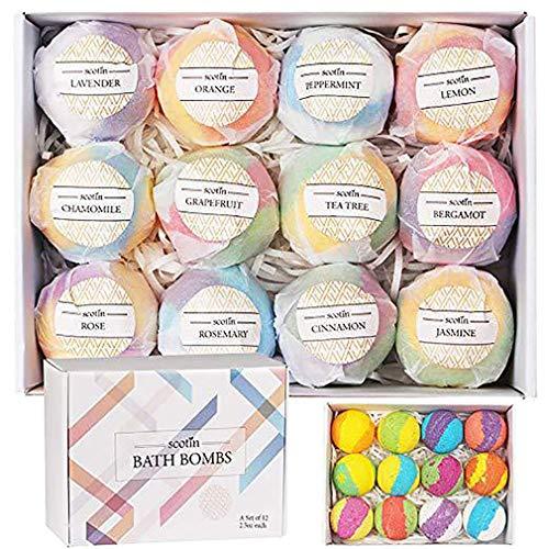 Bombe da bagno Chenqi Set Multi-Colored Kit da bagno Vegan Bomb per idratazione della pelle Esclusiva galleggiante con ricche bolle Bello
