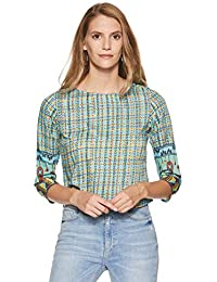 global desi Women's Checkered Regular Fit Shirt