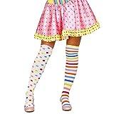 Guirca Fiestas GUI18561 - gepunktelte und Gestreifte Clown-Strumpfhosen