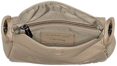 Mandarina Duck - Mellow Leather Tracolla, Borse a spalla Donna Beige (Simply Taupe)