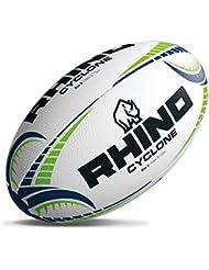 Rhino Cyclone Rugby Sport Matchplay 3D Grip Handgenähter Trainingsball Sz 3-5