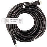 Valueline VGVT34000B150 - Cable HDMI de alta velocidad con conector HDMI Ethernet, 15 m, negro
