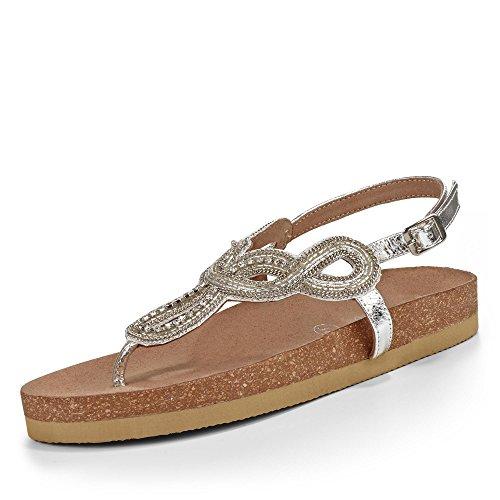 Buffalo Sandale Silber