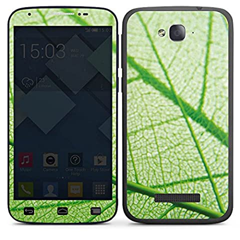 Alcatel One Touch POP C7 Adhesive Protective Film Design Sticker Skin Leaf Plant Green