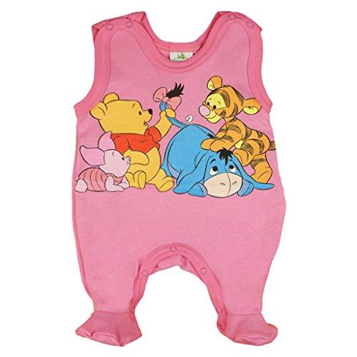 üßchen Jungen oder Mädchen, ÄRMELLOS, Spiel-Anzug mit Druck-Knöpfen, BABY-SCHLAFANZUG Winnie Pooh, Grösse 56, 62, 68, für Neugeborene in rosa, blau, weiß Size 68, Farbe Rosa (Winnie The Pooh Jungen Oder Mädchen)