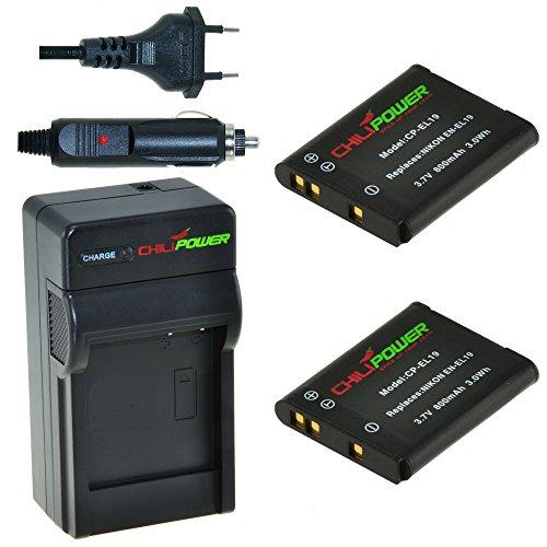 chilipower-nikon-en-el19-enel19-kit-2x-batterie-800mah-chargeur-pour-nikon-coolpix-s100-s2500-s2600-