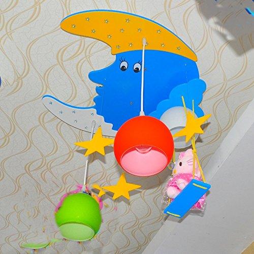 Doppel-Saug-Hängelampe Kinderzimmer Kronleuchter Kinderwagen Cartoon Jungen und Mädchen mit Schlafzimmer Deckenbeleuchtung - 2
