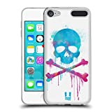 Head Case Designs Pinsel Totenkopf Mit Gekreuzten Knochen Soft Gel Hülle für Apple iPod Touch 6G 6th Gen