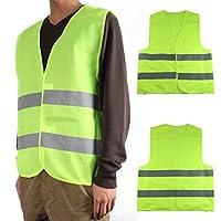 Seguridad seguridad visibilidad chaleco reflectante construcción tráfico-verde