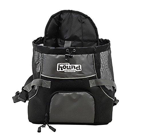 Artikelbild: Kyjen 21008 Outward Hound PoochPouch Front Carrier For Dogs Easy Fit Tragetasche, verstellbar, Größe M, grau