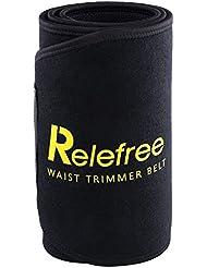 Relefree Ceinture de Sudation Réglable Taille Trimmer Sport Premium pour Accélérer la Perte de Poids pour Femmes Hommes