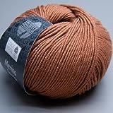 Wolle LANA GROSSA COOL WOOL, 595 - Rotbraun50g