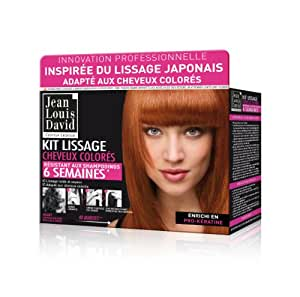 Jean Louis David - Kit Lissage Résistant Aux Shampooings Pour Cheveux Colorés 6 Semaines