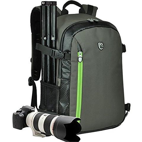 yuhan Oxford Grande Capacité multifonctions imperméable antichoc pour appareil photo SLR/DSLR Gadget professionnel de Photographie de voyage sac à dos sac à dos avec rembourrage et housse de pluie supplémentaire pour Canon Nikon Sony Nikon Olympus Samsung
