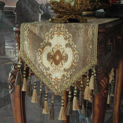 GGCCX Tischläufer Europäischen Stil Luxus Tischläufer Brown 35*240 (Print Zebra Brown Bettwäsche)