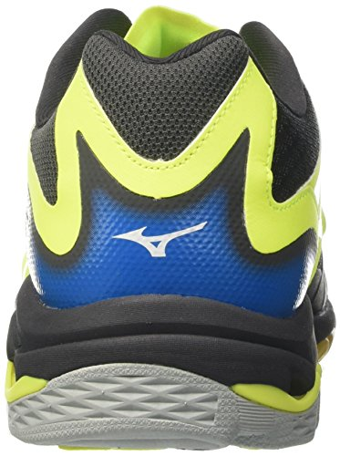 Mizuno Wave Lightning Z3, Scarpe Indoor Multisport Uomo Multicolore (Safetyyellow/atomicblue/Darkshadow)