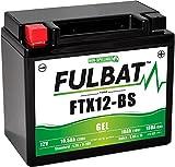 FTX12-BS GEL, YTX12-BS, DIN51012, Wartungsfreie GEL Fulbat Batterie, HxBxT: 130x150x87mm