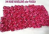 AJL Srls UNIP 144 Rose ROSELLINE in TNT Fucsia 1,5 cm Circa per BOMBONIERE Compleanno Festa Party SPOSI