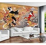Papier peint 3d taille personnalisée photo murale salon japonais beauté peinture peinture à l'huile canapé TV fond non-tissé papier peint pour le mur, 250x175cm