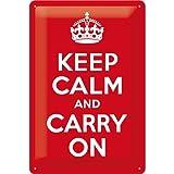 Nostalgic-Art 22187 United Kingdom - Keep Calm and Carry On, Blechschild 20x30 cm
