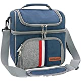 CtopoGo Adult Lunch Box Insulated Lunch Bag Large Cooler Tote Bag for Men, Women, Double Deck Cooler Waterproof Material