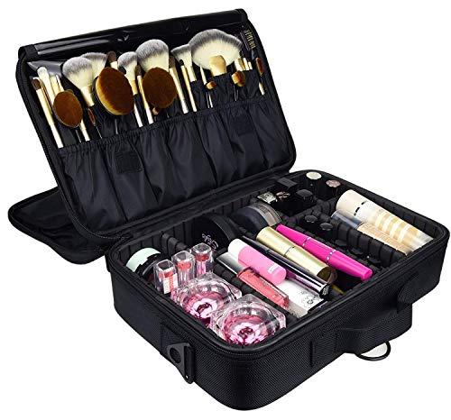 Kosmetiktasche Portable Reise Make Up Tasche, HandingSM Make-up Pinsel Organizer Tasche mit Reißverschluss wasserdicht große Kulturbeutel für Frauen & Männer (M) -