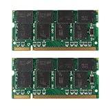 Laptop Arbeitsspeicher - TOOGOO (R) 2GB 2x1GB PC2700 DDR333 Non-ECC 200-Pin CL2.5 Laptop (SODIMM) Arbeitsspeicher (RAM) Neu