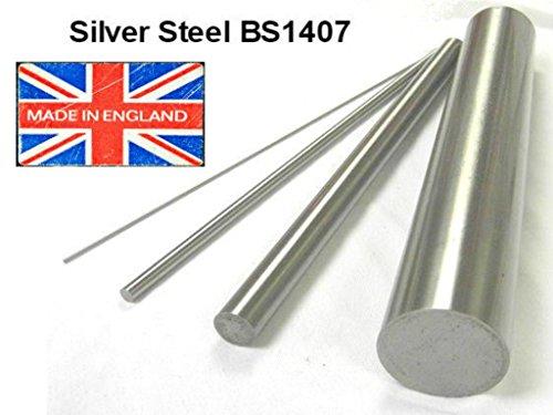 6mm Durchmesser x 333mm Länge. Silberne Stahlstange,präziser Stahlstab (BS1407)-
