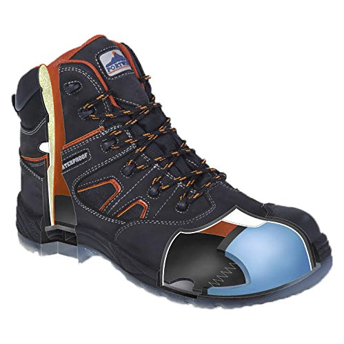 Portwest FC57BKR47 Scarponcino All Weather S3 Wr Compositelite, Nero, 47 Nero