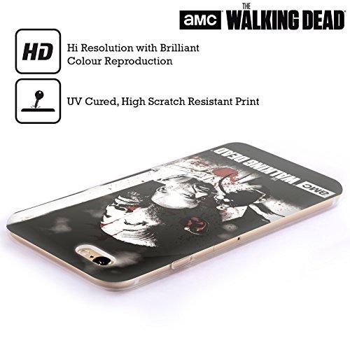 Ufficiale AMC The Walking Dead Rick Faccia Insanguinata Sangue Cover Morbida In Gel Per Apple iPhone 6 / 6s Morgan