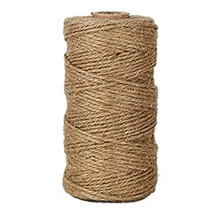 EDGEAM 328 Feet Natural Durable Jute Twine Rope Decocord for Hang Tags, Greeting Card, Gifts Wrapping, DIY Crafting, Gardening (1PC)