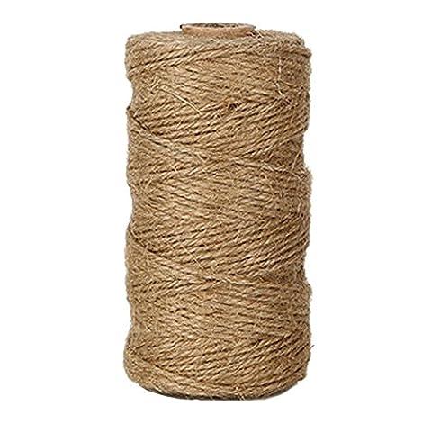 EDGEAM 328-Fuß/100M Natürliche Jute Seil Dekokordel für