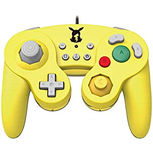 Hori Controller For Nintendo Switch Game Cube GC Style Pikachu Version Pokemon