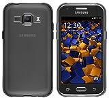 mumbi Schutzhülle für Samsung Galaxy J1 Hülle transparent schwarz (nicht für das Galaxy J1 2016)