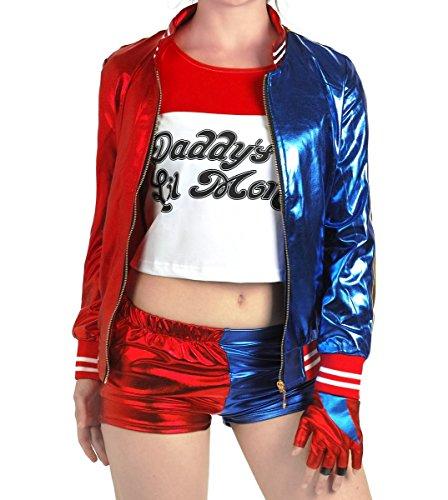 Quinn Kostüm, Größe: L (Harley Quinn Halloween-kostüm)
