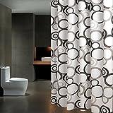 Cortina de ducha de baño partición cortina de aislamiento de baño cortina impermeable cortina blanca ( Size : 240*200cm )