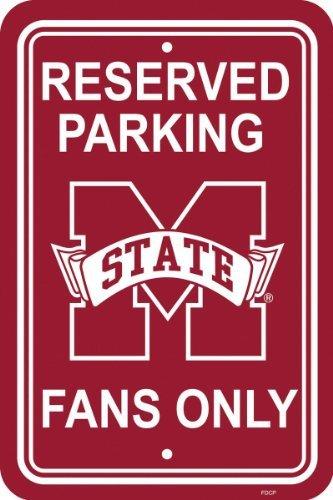 Fremont Die NCAA Mississippi State Bulldogs 12-by-18Zoll Kunststoff Parken Schild Mississippi State Player